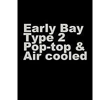 Early Bay Pop Type 2 Pop Top Grey Photographic Print