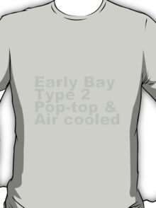 Early Bay Pop Type 2 Pop Top Grey T-Shirt