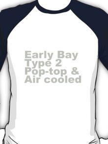 Early Bay Pop Type 2 Pop Top Grey T-Shirt