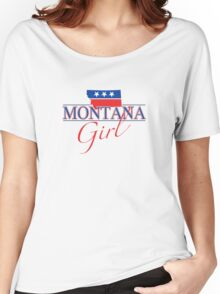 Montana Girl - Red, White & Blue Graphic Women's Relaxed Fit T-Shirt