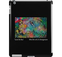 Lost at Sea (white letters) iPad Case/Skin