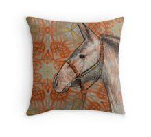 Horse & Indian symbols Throw Pillow