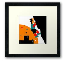 Rock Climbing Outdoor Abstract Framed Print