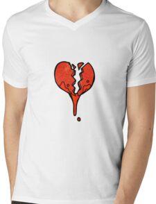 cartoon heart symbol Mens V-Neck T-Shirt
