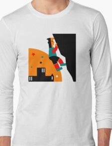 Rock Climbing Outdoor Abstract Long Sleeve T-Shirt