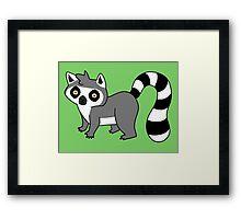 Adorable Lemur Framed Print