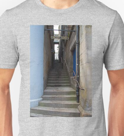 Looking up Anchor Close Unisex T-Shirt