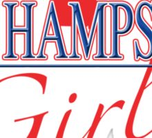 New Hampshire Girl - Red, White & Blue Graphic Sticker