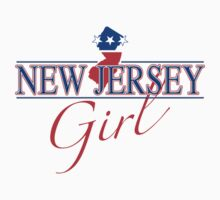 New Jersey Girl - Red, White & Blue Graphic by SandpiperDesign