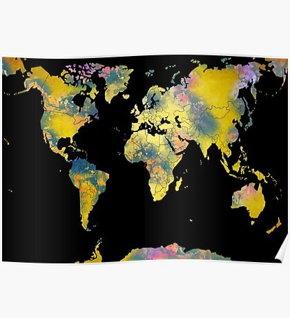 world map 36 Poster