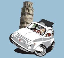 Classic Fiat 500 in Pisa caricature T-Shirt