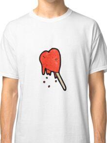 melting heart ice lolly cartoon Classic T-Shirt