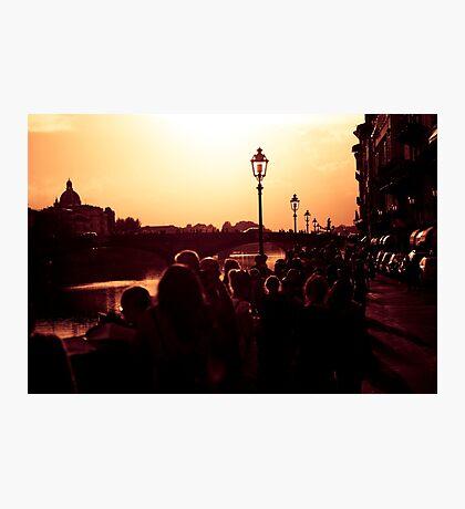 Florence promenade at Dusk Photographic Print