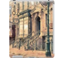 Streets of Old New York City Watercolor iPad Case/Skin