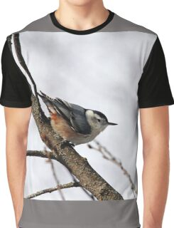 Perched Nuthatch Graphic T-Shirt