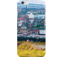 Scenic view of Whitby city in autumn sunny day iPhone Case/Skin