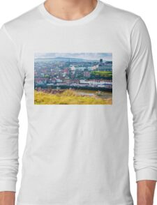 Scenic view of Whitby city in autumn sunny day Long Sleeve T-Shirt