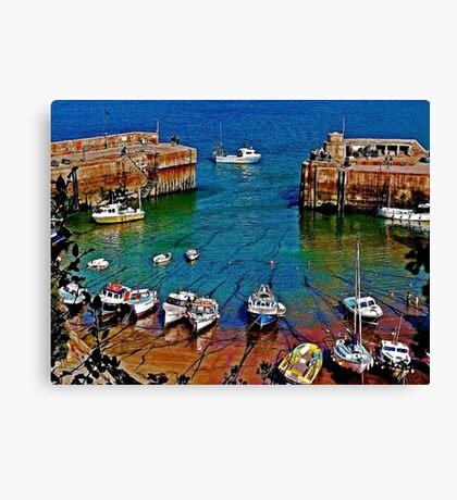 Newquay Harbour Canvas Print