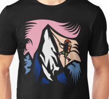 Mountain Climbing Abstract Unisex T-Shirt
