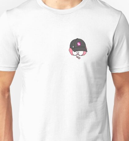 Crazy Brain Lady with Baseball Cap Unisex T-Shirt