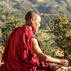 Buddhist monk, Nepal by indiafrank