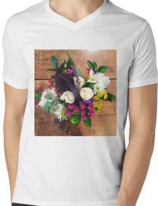 Flower Bouquet Mens V-Neck T-Shirt
