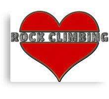 Love Rock Climbing Canvas Print