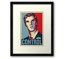 CONTROL 4colours Framed Print