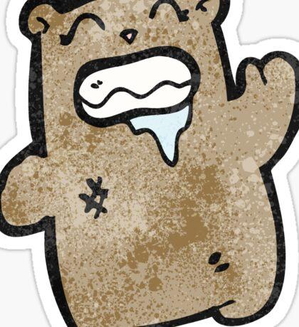 cartoon gross waving bear Sticker
