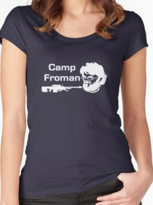 Camp Froman white Women's Fitted Scoop T-Shirt