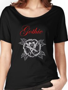 GOTHIC ROSE Women's Relaxed Fit T-Shirt