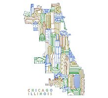 Chicago Illinois Limits Townsville Art Photographic Print