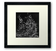 Abstract Shapes 3 - Black & White Framed Print