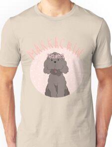 Makkachin Pink Design (Red Outline) Unisex T-Shirt