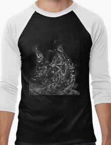 Abstract Shapes 3 - Black & White Men's Baseball ¾ T-Shirt