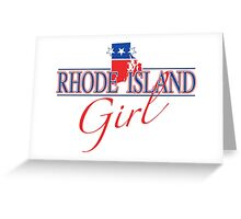 Rhode Island Girl - Red, White & Blue Graphic Greeting Card