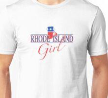 Rhode Island Girl - Red, White & Blue Graphic Unisex T-Shirt
