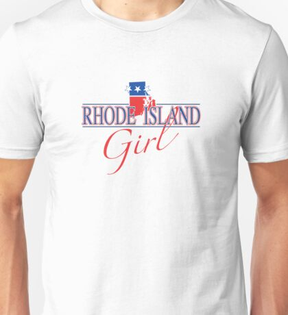 Rhode Island Girl - Red, White & Blue Graphic Unisex T-Shirt
