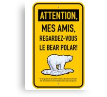 le bear polar sign/gold Canvas Print