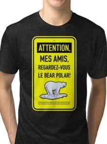 le bear polar sign/lemon Tri-blend T-Shirt