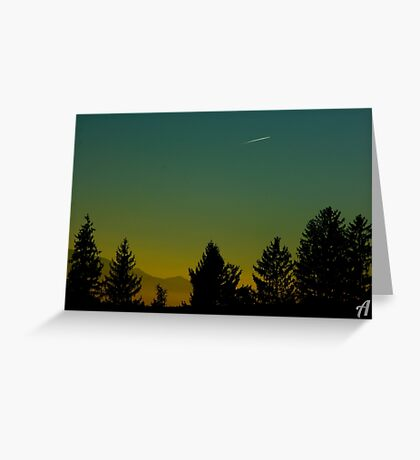 Beautiful Sunset In Austria Greeting Card