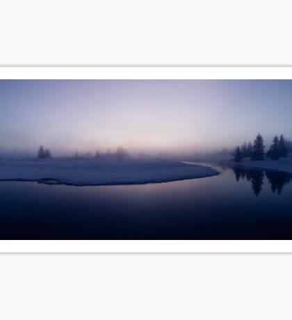 Winter - Moody Foogy River Panorama Sticker