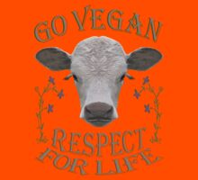 GO VEGAN - RESPECT FOR LIFE Kids Clothes