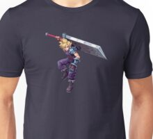 Cloud Strife - Deluxe Sprite from AbyssWolf Unisex T-Shirt