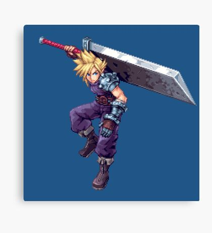 Cloud Strife - Deluxe Sprite from AbyssWolf Canvas Print