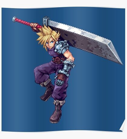 Cloud Strife - Deluxe Sprite from AbyssWolf Poster