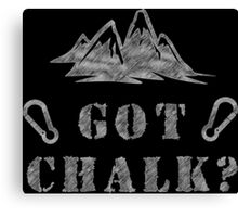 Rock Climbing Got Chalk Canvas Print