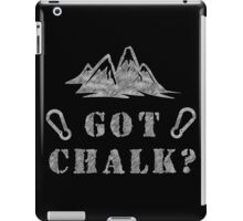 Rock Climbing Got Chalk iPad Case/Skin