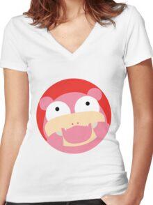 HAPPY SLOWPOKE Women's Fitted V-Neck T-Shirt