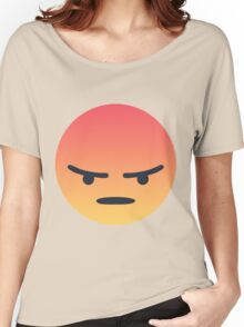 Angry React Face Women's Relaxed Fit T-Shirt